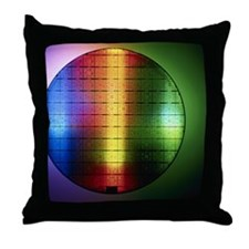 Semiconductor wafer Throw Pillow