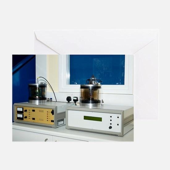 SEM specimen coating equipment Greeting Card