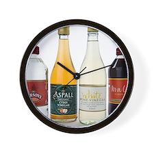 Selection of vinegars Wall Clock