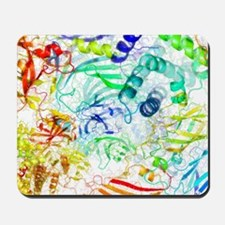 Secondary structure of proteins, artwork Mousepad