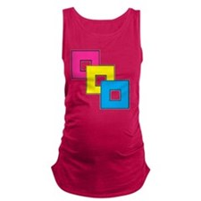 Pansexual Pride Maternity Tank Top