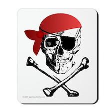 Pirate Skull w/bandana Mousepad