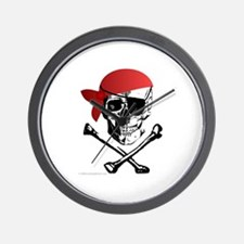 Pirate Skull w/bandana Wall Clock