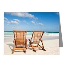Beach chairs in the sand Note Cards (Pk of 10)