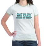 Can't You Hear The Snow? Jr. Ringer T-Shirt