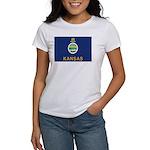 Kansas Flag Women's T-Shirt