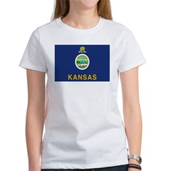 Kansas Flag Women's T-Shirt