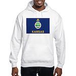 Kansas Flag Hooded Sweatshirt