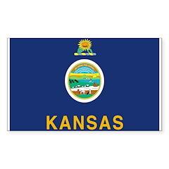 Kansas Flag Rectangle Decal
