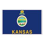 Kansas Flag Rectangle Sticker