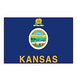 Kansas Flag Postcards (Package of 8)