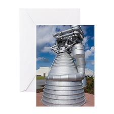 Saturn V rocket's F-1 engine Greeting Card