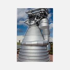Saturn V rocket's F-1 engine Rectangle Magnet