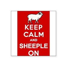 Keep Calm and Sheeple On! Sticker