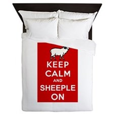Keep Calm and Sheeple On! Queen Duvet