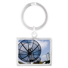 Satellite dishes, Daejeon, Sout Landscape Keychain