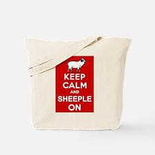 Keep Calm and Sheeple On! Tote Bag