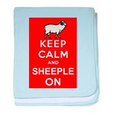 Keep Calm and Sheeple On! baby blanket