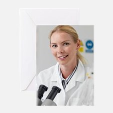 Scientist in a laboratory Greeting Card