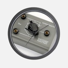 School lab rotary potentiometer Wall Clock