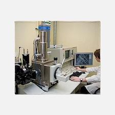 Scanning electron microscopy Throw Blanket