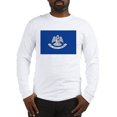 Louisiana Flag Long Sleeve T-Shirt