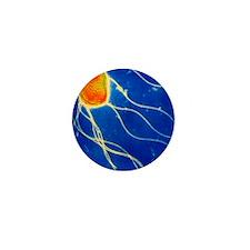 Salmonella enteritidis bacterium Mini Button