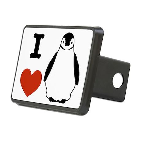 I Love Penguins Rectangular Hitch Cover