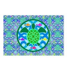 greenturtle_pillowcase_rs Postcards (Package of 8)