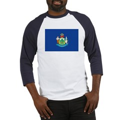 Maine Flag Baseball Jersey