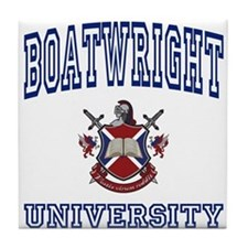 BOATWRIGHT University Tile Coaster