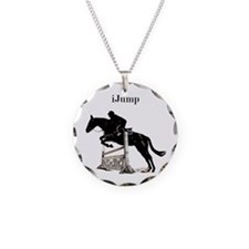 Fun iJump Equestrian Horse Necklace Circle Charm