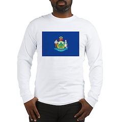 Maine Flag Long Sleeve T-Shirt