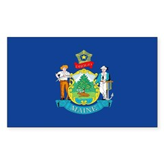 Maine Flag Rectangle Decal