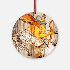 Sagittarius Round Ornament