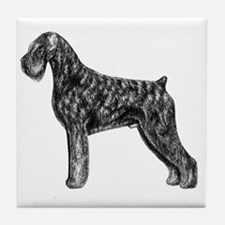 Giant Schnauzer Uncropped Standing Pr Tile Coaster