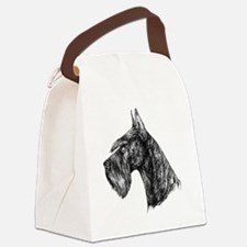 Giant Schnauzer Head Profile Canvas Lunch Bag