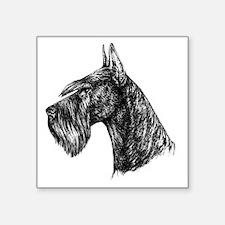 "Giant Schnauzer Head Profil Square Sticker 3"" x 3"""