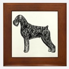 Giant Schnauzer Uncropped Standing Pro Framed Tile
