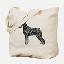 Giant Schnauzer Uncropped Standing Profil Tote Bag
