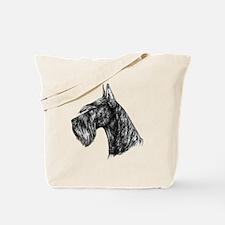 Giant Schnauzer Head Profile Tote Bag