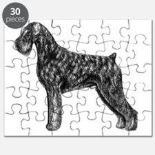 Giant Schnauzer Uncropped Standing Profile Puzzle