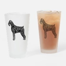 Giant Schnauzer Uncropped Standing  Drinking Glass