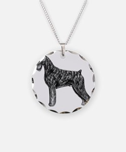 Giant Schnauzer Uncropped St Necklace