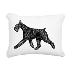 Giant Schnauzer Moving S Rectangular Canvas Pillow