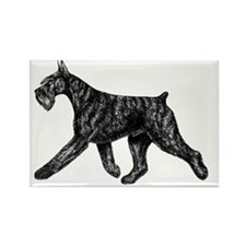 Giant Schnauzer Moving Side Rectangle Magnet