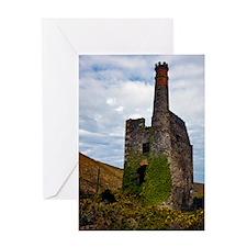 Ruin, Porthtowan, Cornwall Greeting Card