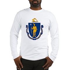 Massachusetts Flag Long Sleeve T-Shirt