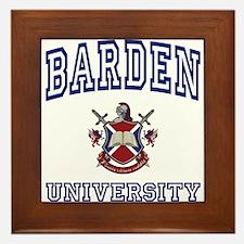 BARDEN University Framed Tile
