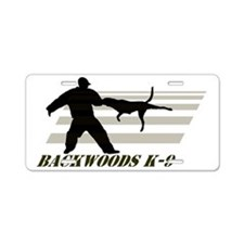 Backwoods K-9 Aluminum License Plate